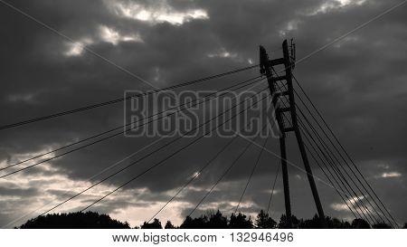 Bridge over river Dunajec in mountains Pieniny
