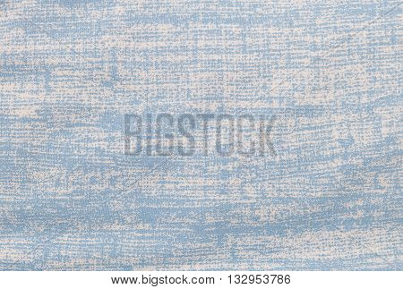 Fabric Texture Close Up of Grung White and Blue Fabric Textile Texture Pattern Background.