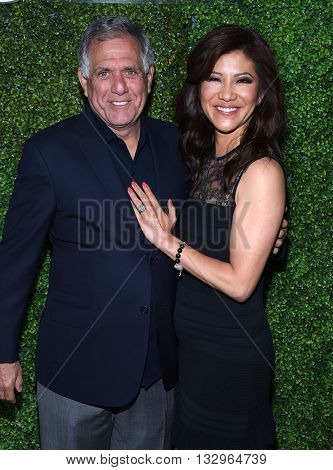 LOS ANGELES - JUN 02:  Les Moonves & Julie Chen arrives to the 2016 CBS Summer Soiree  on June 02, 2016 in Hollywood, CA.