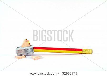 Pencil Eraser and pencil sharpener, stationary, writing