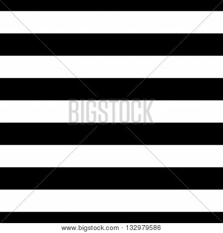Striped seamless pattern with horizontal line. Black and white fashion graphics design. Strict graphic background. Retro style. Template for wallpaper wrapping textile fabric. Vector Illustration.