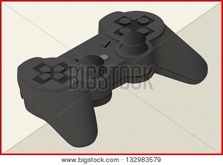 joystick isolated on white background. game pad isometric flat vector 3d illustration