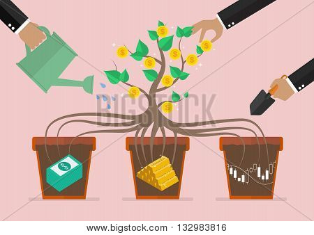 Take care your business investment. Business concept