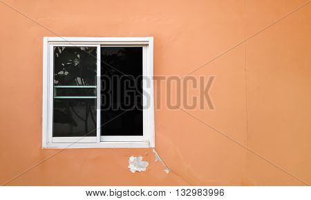 Deteriorated Exterior Paint Of House Wall, Abandoned Home Wall, Unfixed House Wall