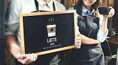 Latte Coffee Milk Foam Froth Caffeine Beverage Concept poster