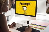 Prompt Schedule Notes Important Task Concept poster