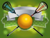 A blank banner and emblem for a lacrosse game. Lacrosse sticks and ball. Vector EPS 10 available. poster