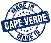 made in Cape Verde blue round vintage stamp.Cape Verde stamp.Cape Verde seal.Cape Verde tag.Cape Verde.Cape Verde sign.Cape.Verde.Cape Verde label.stamp.made.in.made in. poster