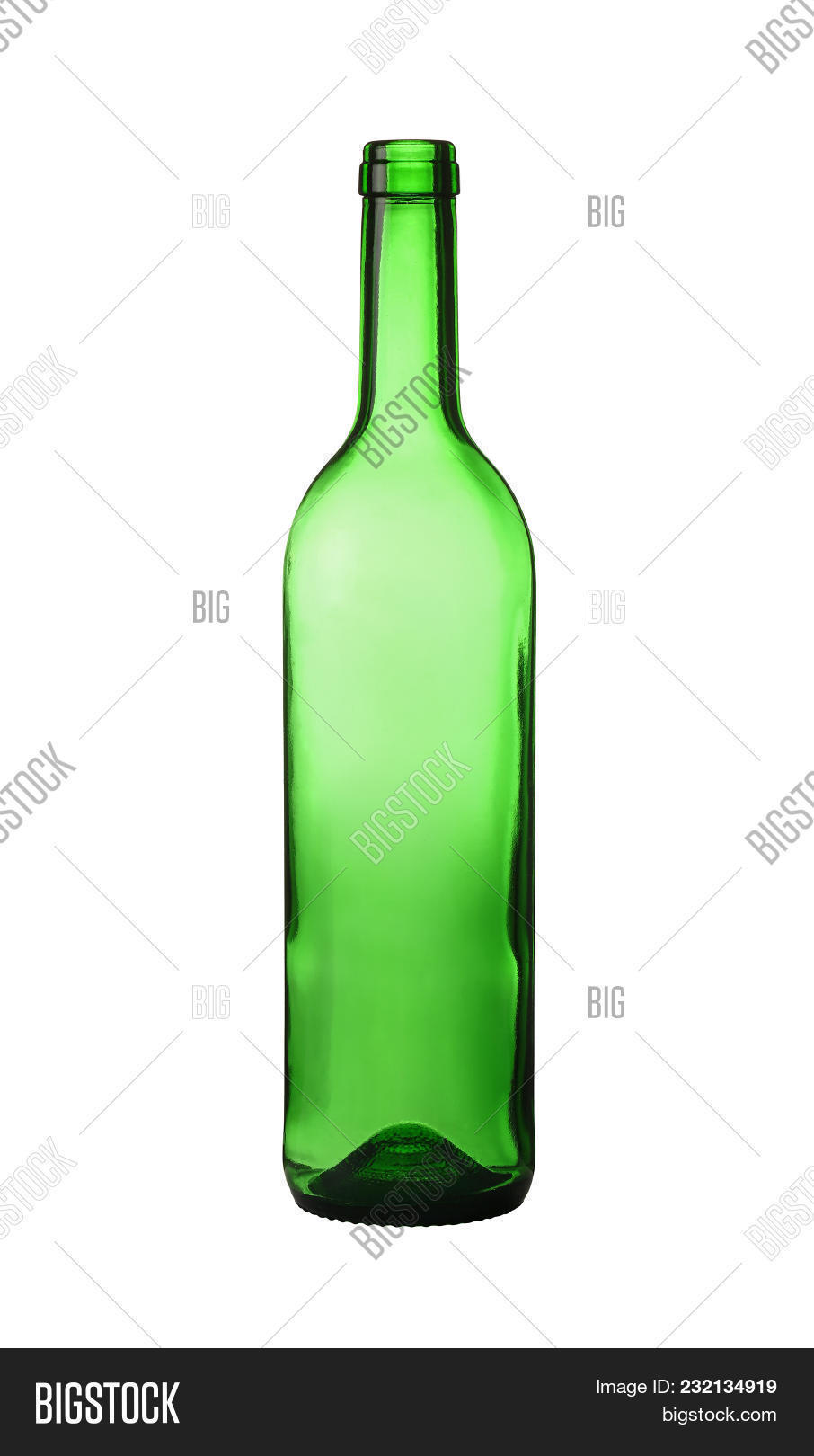 Close Up One Unlabeled Empty Green Glass Wine Bottle Isolated On White Background Low Angle  sc 1 st  Bigstock & Close One Unlabeled Image u0026 Photo (Free Trial) | Bigstock