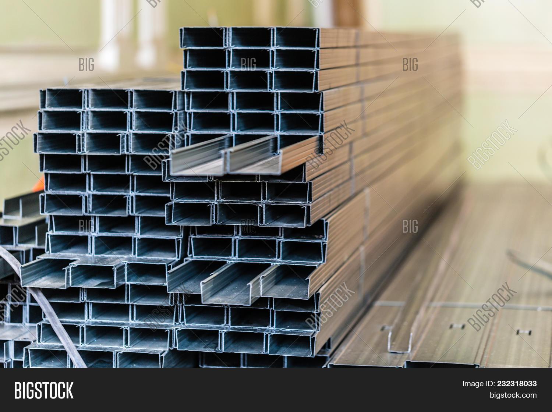 Frames Plasterboard Metal Profiles Image & Photo   Bigstock