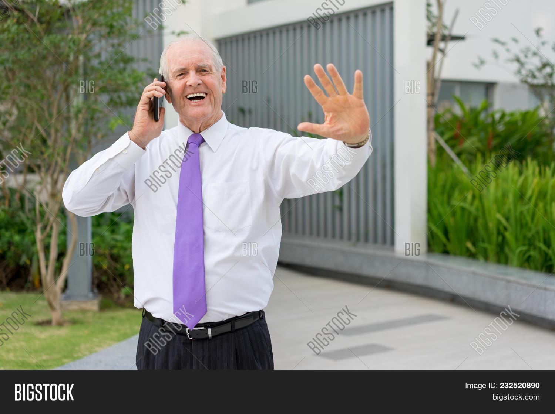 Happy Senior Man Image Photo Free Trial Bigstock