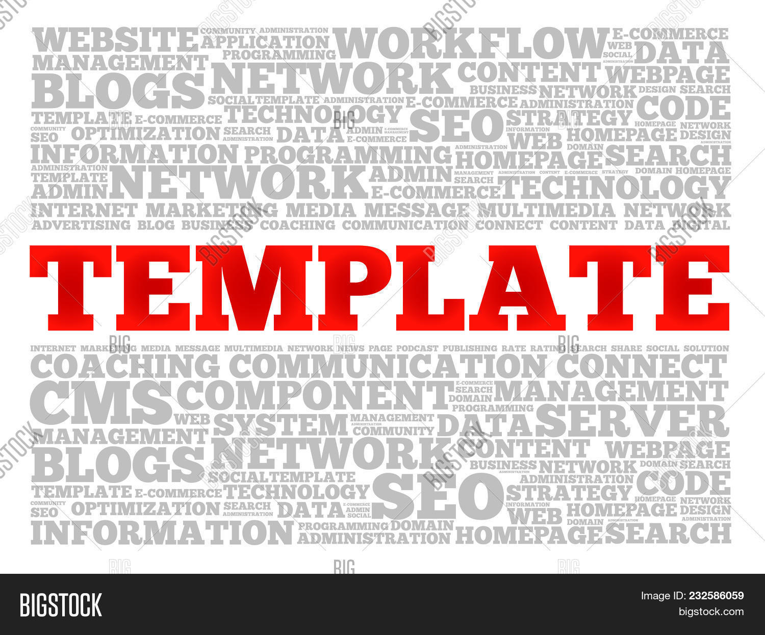 Template word cloud image photo free trial bigstock template word cloud collage technology business concept background maxwellsz
