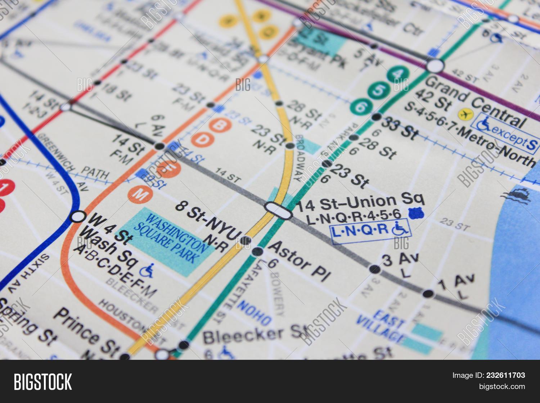 Map Of New York City Subway System.New York Ny Usa Image Photo Free Trial Bigstock