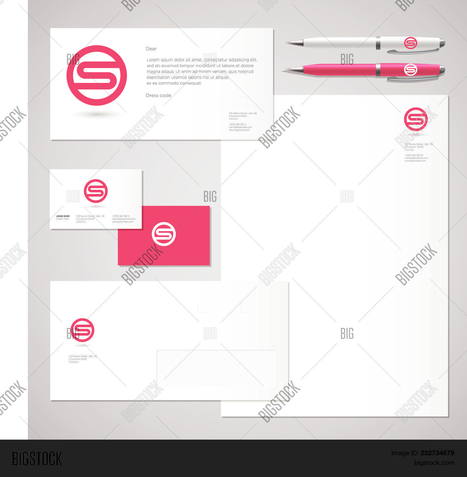 S Logo. S Red Letter Vector & Photo (Free Trial) | Bigstock