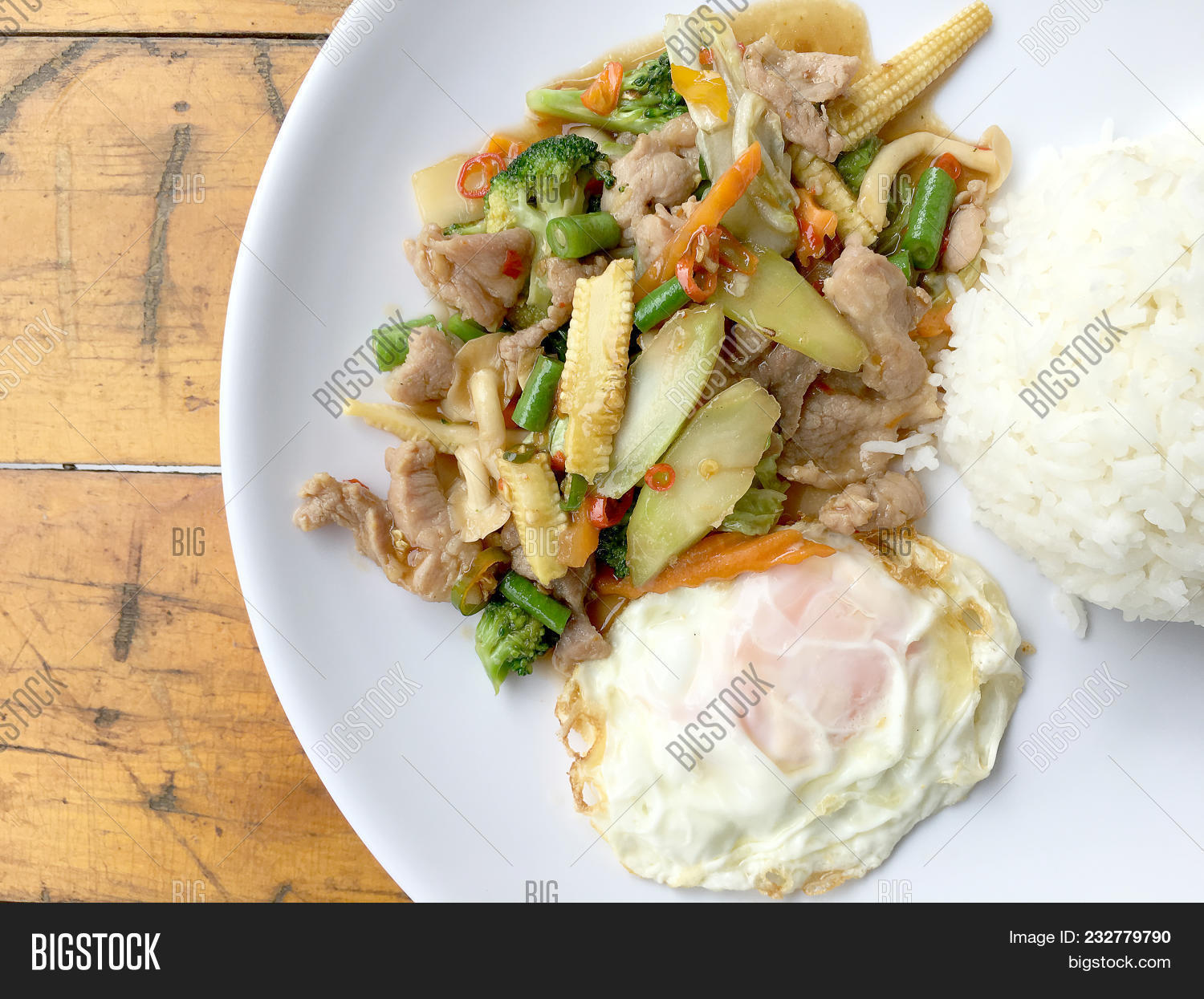 Wok Fried Chicken Stir Image & Photo (Free Trial) | Bigstock