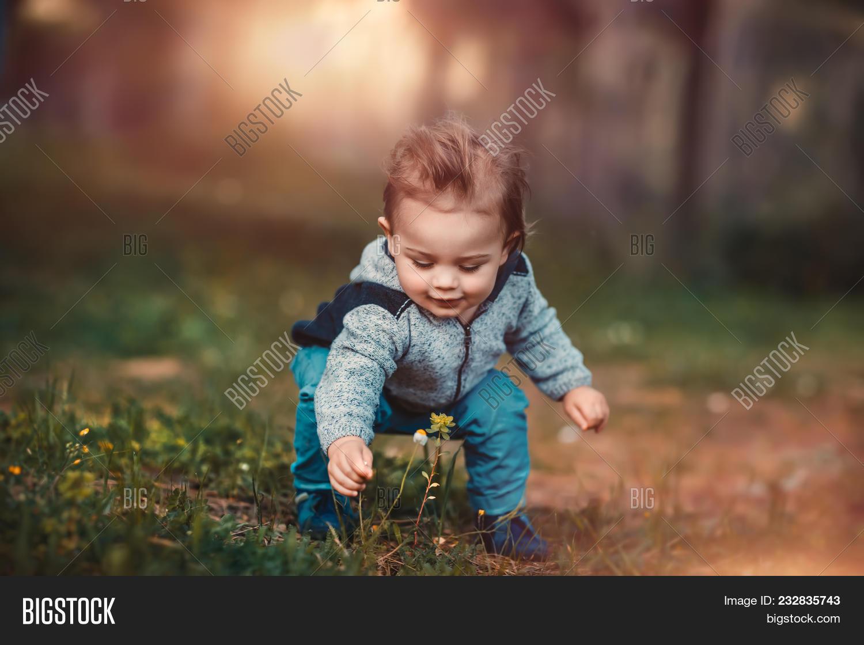 Cute Little Baby Boy Image Photo Free Trial Bigstock