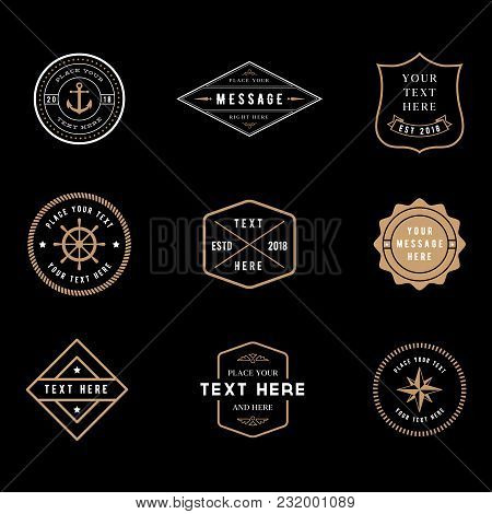 Vintage Badge Logos - Set Of Vintage Minimal Badge Logo Designs.