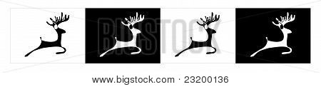 Deer silhouette black and white