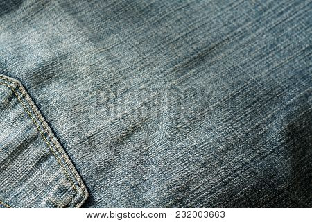 Jeans With Pocket With Blur Effect. Abstract Background And Texture For Design.