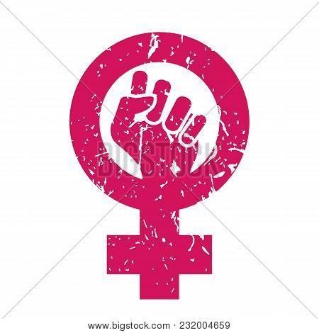 Feminism Symbol Vector. Feminism Power. Lgbt Society. Female Icon. Feminist Hand. Girls Rights. Fema