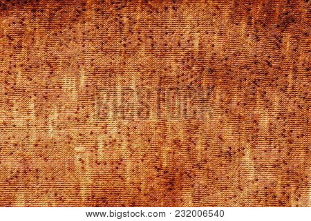 Knitted Texture In Orange Tone. Abstract Background And Texture For Design.