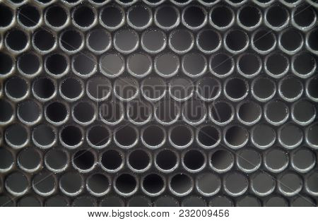 Texture Background Of An Old Speaker Grille Macro Photo