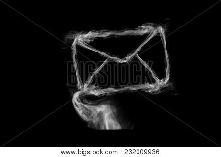 Steam in a form of a letter
