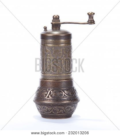 A Pepper Or Coffee Grinder Isolated On A White Background