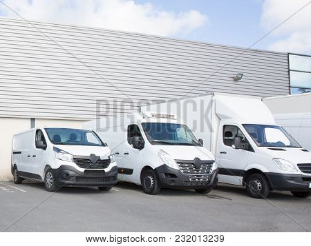 Specialized Delivery Society Parking With Small Trucks And Van