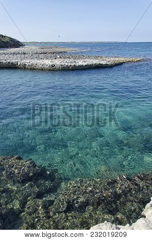 View Of The Beautiful Coast And Sea Of The Salento