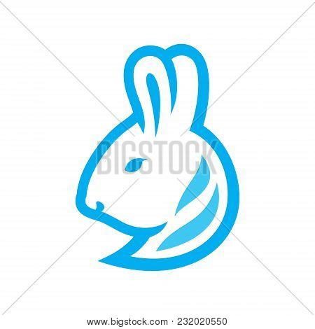 Bunny Head Symbol Isolated On White Background