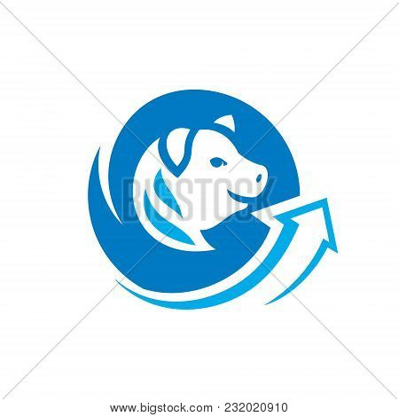 Pig Head Symbol Isolated On White Background