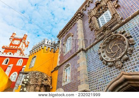 The Royal Palace Of Pena, Or `castelo Da Pena` As It Is More Commonly Known, Portugal, Sintra.
