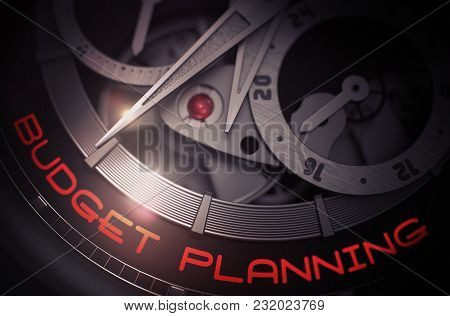 Budget Planning On The Face Of Luxury Watch Machinery Macro Detail Monochrome. Budget Planning On Me