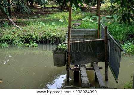 Traditional Toilet. Royalty High Quality Free Stock Image Of Traditional Toilet In Viet Nam. Underne