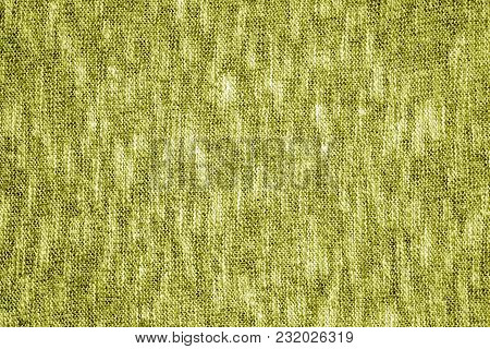 Yellow Color Knitting Texture. Abstract Background And Texture For Design.