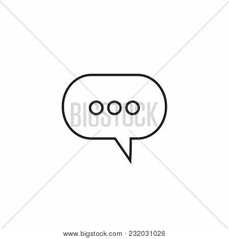 Speech Bubbles Linear Icon In A Flat Design In Black Color. Vector Illustration Eps10.
