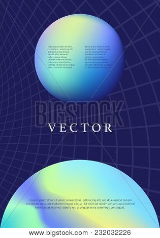 Earth Planet. Modern Futuristic Abstract Cover. Outer Space. Colorful Trendy Poster Template Design.