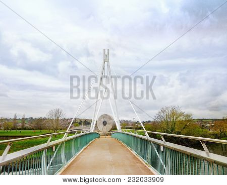 Miller's Bridge Cycle And Pedestrian Bridge Over The River Exe In Exeter Devon