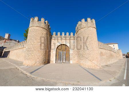Door Of Ancient Wall In Penaranda De Duero Village