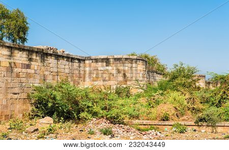Walls Of Champaner Fort, A Unesco World Heritage Site In Gujarat, India