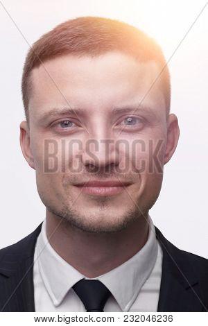 closeup face of a successful man