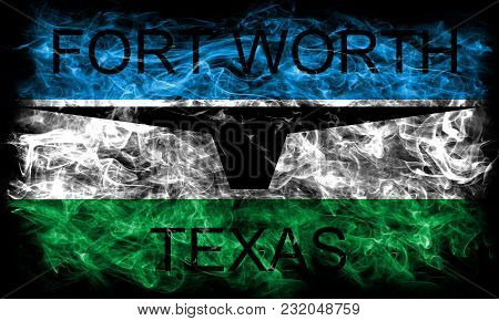 Fort Worth City Smoke Flag, Texas State, United States Of America