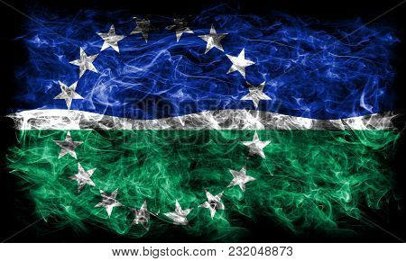 Hampton Roads City Smoke Flag, Virginia State, United States Of America