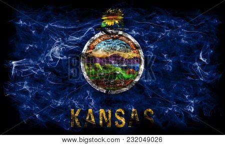 Kansas State Smoke Flag, United States Of America