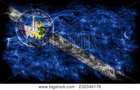Las Vegas City Smoke Flag, Nevada State, United States Of America