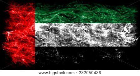 United Arab Emirates Smoke Flag On A Black Background