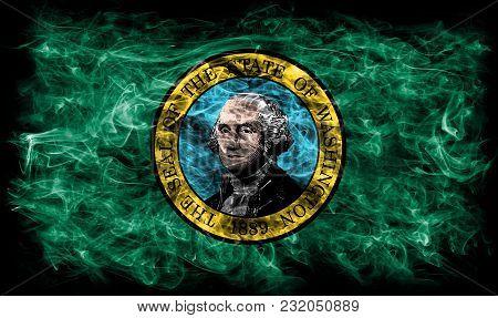 Washington State Smoke Flag, United States Of America