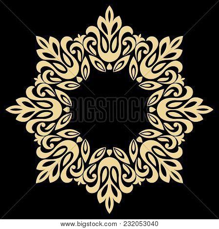 Decorative Line Art Frames For Design Template. Elegant Element For Design In Eastern Style, Place F