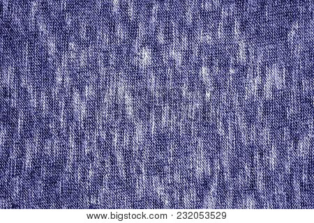 Blue Color Knitting Texture. Abstract Background And Texture For Design.